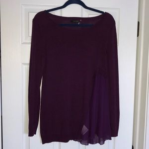 Purple long sleeve sweater with detail